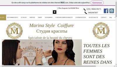 Site internet de Marina Style
