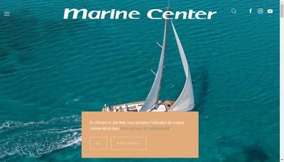 Site internet de Marine Center