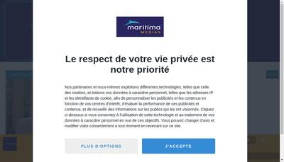 Site internet de Maritima Medias