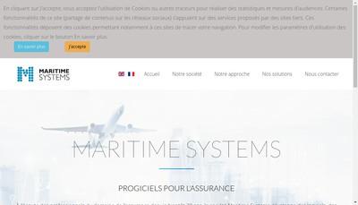 Site internet de Maritime Systems