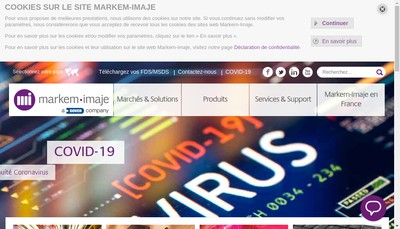Site internet de Markem-Imaje Industries