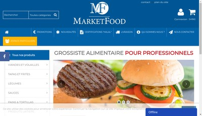Site internet de Marketfood