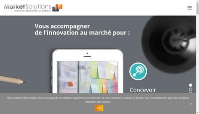 Site internet de Market Solutions Consulting