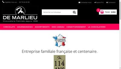 Site internet de Chocolaterie de Marlieu