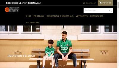Site internet de Marmon Sports