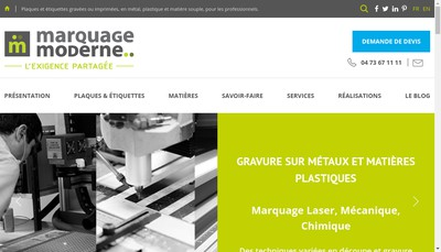 Site internet de Marquage Moderne