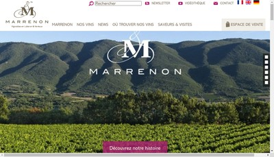 Site internet de Marrenon Vignobles en Luberon