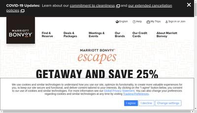 Site internet de Hotel Marriot Cap d'Ail