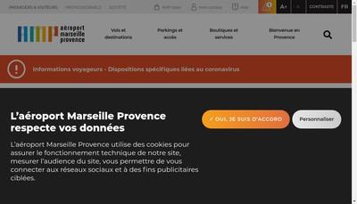 Site internet de Aeroport Marseille Provence