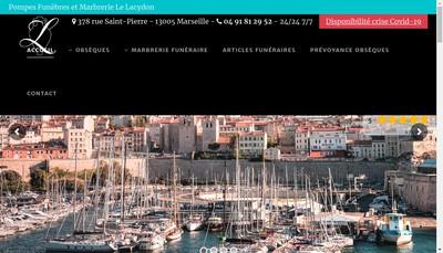 Site internet de Pompes Funebres le Lacydon