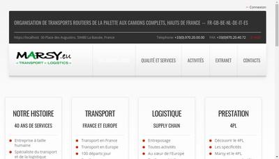 Site internet de Marsy Transport Logistics