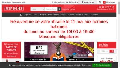 Site internet de Martin Delbert