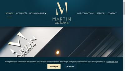 Site internet de Martin Optique
