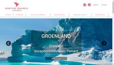 Site internet de Martine Roussel Voyages - Jet Tours