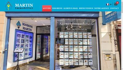 Site internet de Martin Immobilier