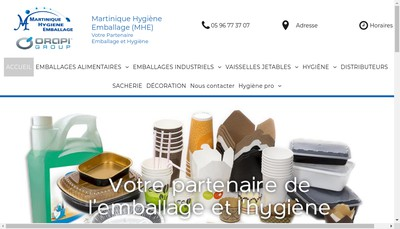 Site internet de Martinique Hygiene Emballage