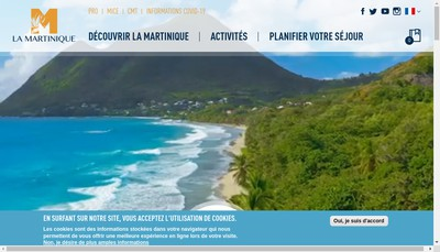 Site internet de Comite Martiniquais du Tourisme