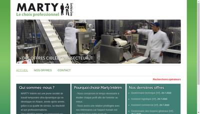 Site internet de Marty Interim