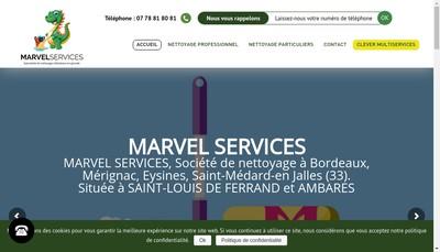 Site internet de Marvel Services