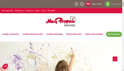 Site internet de Mary Poppins Services