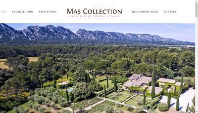 Site internet de Mas Collection