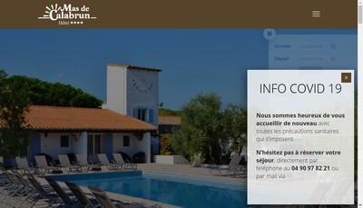 Site internet de Hostellerie du Mas de Calabrun
