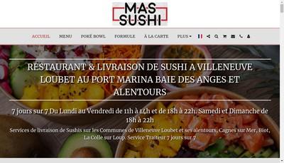 Site internet de Mas Sushi
