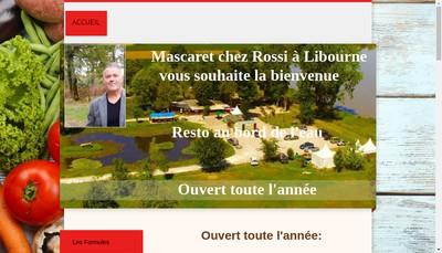 Site internet de Le Mascaret Chez Rossi