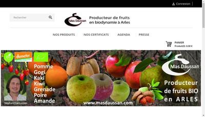 Site internet de Mas Daussan