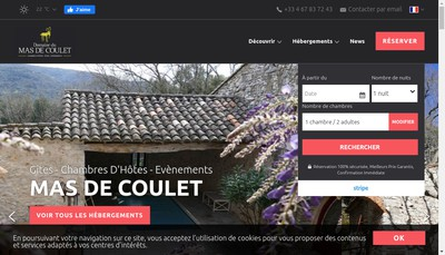 Site internet de Le Mas de Coulet