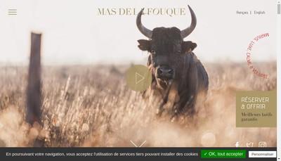Site internet de Mas de la Fouque