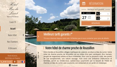 Site internet de Hotel de Canto Cigalo