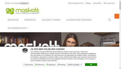 Site internet de Maskott Edition Production Msup Communic