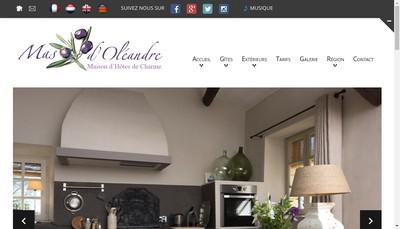 Site internet de Mas d'Oleandre