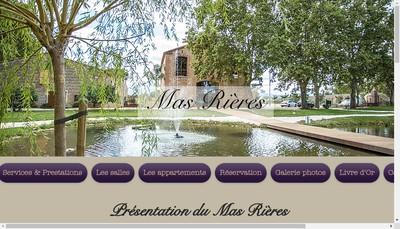 Site internet de Mas Rieres