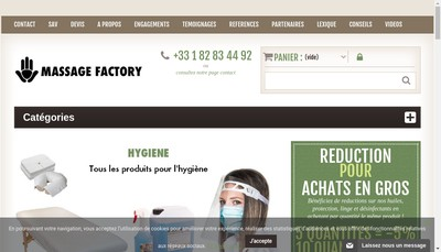 Site internet de Massage Factory