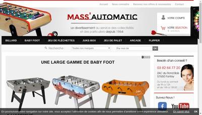Site internet de SARL d'Exploitation des Etablissements Mass'Automatic