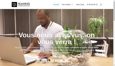 Site internet de Masseix Communication