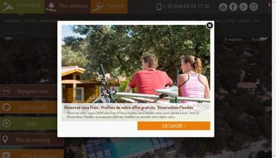 Site internet de Camping du Domaine de Massereau et Hotel les Pres du Roi