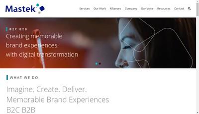 Site internet de Mastek Ltd