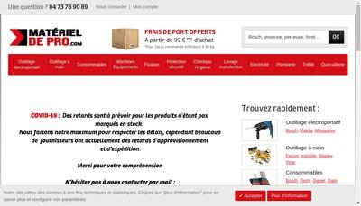 Site internet de Materiel de Pro Com