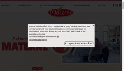Site internet de Materne