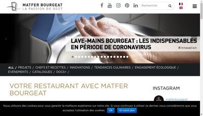 Site internet de Matfer Industrie