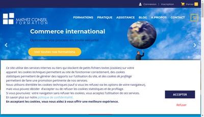 Site internet de Mathez Conseil Formation