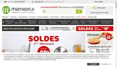 Site internet de Mathon Developpement