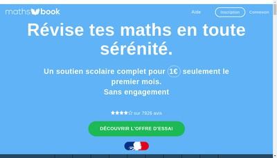 Site internet de Maths book