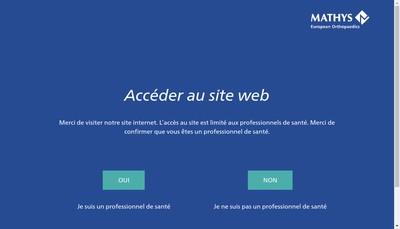 Site internet de Mathys Orthopedie