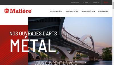 Site internet de Matiere