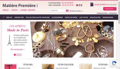 Site internet de Matiere Premiere