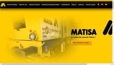 Site internet de Matisa